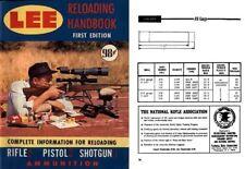 Lee Reloading Handbook c1965 1st Edition