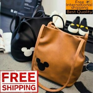 Fashion Handbag Mickey Mouse Women Ladies Synthetic Leather Tote Shoulder Bag