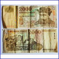 Pick 190c Ungarn / Hungary 2000 Forint 2004 F(fine) / .640098vvv..