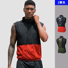 Mens Sleeveless Runnin T Shirt Patchwork CrossfitFitness Bodybuilding Tops 91103