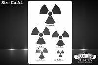 Atom Zeichen Airbrush  Schablone - Nuclear Fallout Stencil