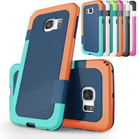 For Samsung Galaxy S8 S8 Plus/S6 Edge Case Hybrid Shockproof Rugged Phone Cover