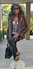 Mint Designer Neiman Marcus Russian sable Fur Coat jacket bolero S 0-4 $39,000+