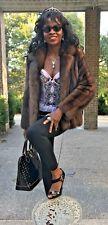 Mint Designer Neiman Marcus Russian sable Fur Coat jacket bolero S 0-4 $39,000+