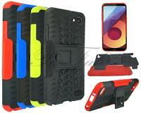 For LG Q6 M700N New Genuine Black Blue Red Shock Proof Stand Phone Case Cover