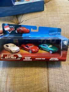 Disney Pixar The World Of Cars 3-Car Gift Pack Ferrari,Antonio,Costa,MISP,(B124)