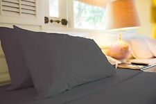 1500 TC LUXURIOUS EGYPTIAN  COTTON QUALITY SHEET SET KING SIZE GRAY