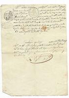 1827  justice confession manuscript document RARE confession stamp amazing SIGNA