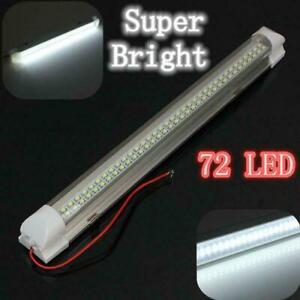 12V LED Streifen Leuchte Röhre 72-LEDs Auto Van VOLT Stablampe Lichtleiste DHL
