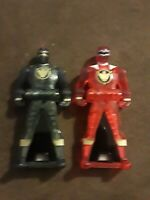 LOOSE  Power Rangers Super Megaforce Keys Black Red Dino Thunder Translucent