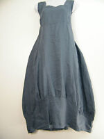 NEW 100% LINEN LAGEN LOOK DRESS WITH FRONT POCKETS TO FIT SIZES 12-16