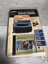 Royal Electronic Dictionary Thesaurus RP7000S Translator Britannica Encyclopedia