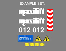 Sticker, aufkleber Crane MAXILIFT 012 150 180 330 160 130 110 50 008 300 400