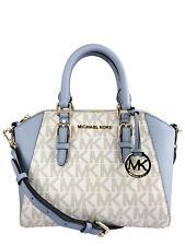 Michael Kors Ciara Medium Messenger Vanilla MK Pale Blue Crossbody SMALL bag