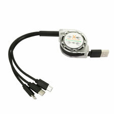 3 in 1 Multi Retractable Charging Cable Cord Type C Micro USB Lightning 8 Pin