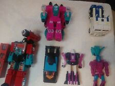 transformers lot 6 Figures plus parts. 411
