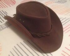 Cappello hat cow boy western pelle cuoio leather Made In Australia