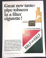 Life Magazine Ad HALF and HALF Cigarettes 1964 Ad