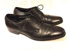 Boss Hugo Boss men's black leather shoes size 10.5 Nice!!