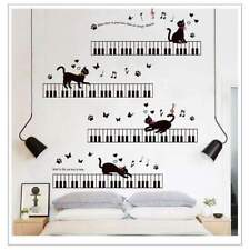 Wall Stickers Music Themed Home Decor - Cats and Keys