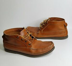 Sperry Top-Sider For J.Crew Men's US 11 M Brown Leather Ankle Chukka Boat Boots