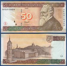 LITAUEN / LITHUANIA 50 Litu 2003 UNC  P.67