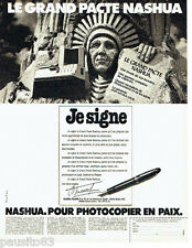 PUBLICITE ADVERTISING  016  1981  Nashua copieur Le Grand Pacte