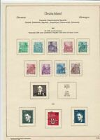 germany 1957 democratic republic stamps page  ref 18757
