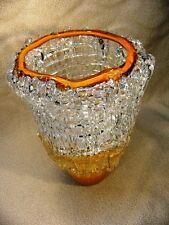 Large Artist Signed Art Glass Vase, sculpture