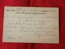 POST CARD~ PRISONERS OF WAR~  CAMP UKRANERLAGER RASTSTT GERMANY ~COLLECTABLES