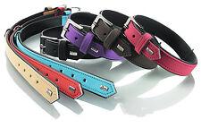 Hunter Halsband Softie Nubuk Kunstleder schwarz  Hunde viele Größen und Farben