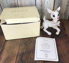 Lenox Rudolph the Red Nosed Reindeer Christmas Figurine 24K COA Box