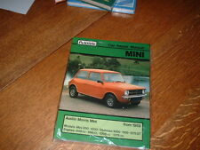 N.O.S. MINI WORKSHOP MANUAL .FROM 1959. 850 1000 CLUBMAN 1100 1275GT.