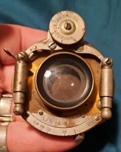 BAUSCH LOMB PATENT 1891 UNICUM LARGE FORMAT BRASS CAMERA LENS PARTS OR RESTORE