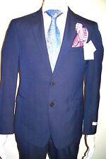 42L Suit Slim Fit INDIGO SUMMER BLUE Calvin Klein 100%Wool ORG:$495