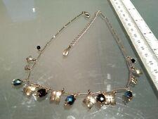 Vintage PILGRIM necklace DANISH DESIGN CHARM ARORA BORA IRIDESCENT CRYSTAL GLASS
