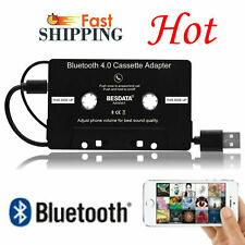 Wired Car Audio Cassette Bluetooth Music Receiver Adapter For Mp3 Ipod New Us