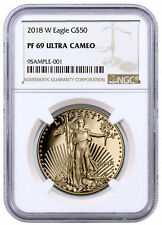 2018-W 1 oz Gold American Eagle Proof $50 NGC PF69 UC SKU53212