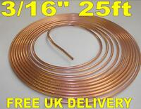 "New Copper Brake Pipe Roll 25ft - 22g - 3/16""."