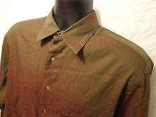 John W. Nordstorm Dress Shirt Brown 15 1/2 100% Long Staple Cotton