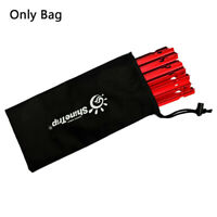 Tent Pegs Bag Camping Tent Accessories Hammer Wind Rope Tent Nail Storage UKHC
