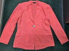 Misook designer blazer jacket coral pink decorative button M