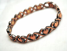 LADIES 10 IN COPPER HUGS 'N HEARTS HEALING MAGNETIC THERAPY LINK ANKLET: 4 Pain!