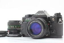 [Near Mint] CANON AE-1 Program Black + New FD 50mm + 28mm 2Lens from JAPAN 0820