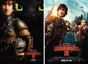HOW TO TRAIN YOUR DRAGON 2 2014 DS 2 Sided Promo Original Mini Movie Poster