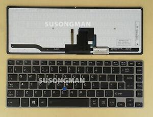New UK Keyboard for TOSHIBA Tecra Z40-A Z40-B Laptop Backlit Pointer Grey frame