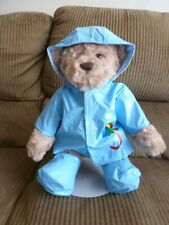 Fits Cabbage Patch and Build a Bear-blue raincoat