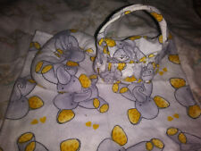 "Mini Miniature silicone baby Ooak reborn doll Barbie Diaper bag set "" Elephant """