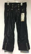 Obermeyer Women's Lani Insulated Snow Ski Winter Pant Black Print Size 12 New