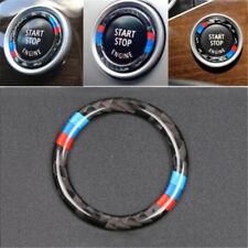 For BMW 3 E90/E92/E93 Key Start Button Ring Decor Carbon Fiber Trim